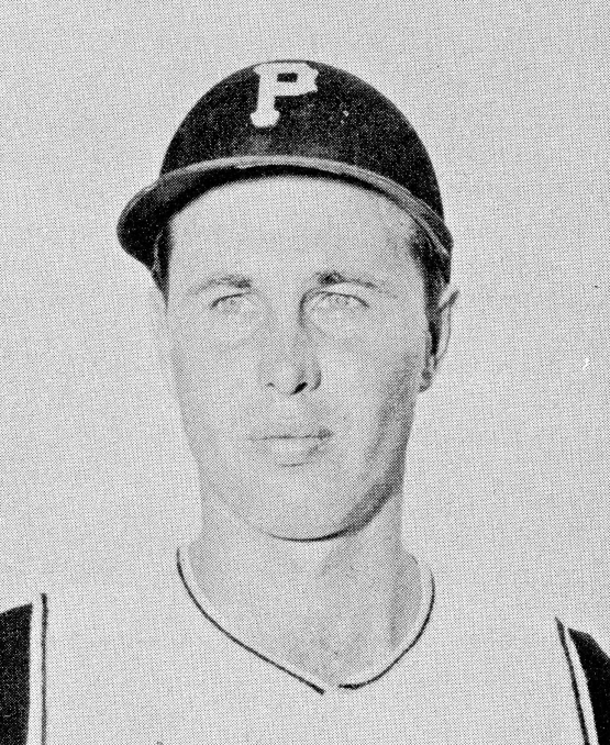 Pitcher Bob Thorpe, as depicted in the Pirates' 1959 yearbook.
